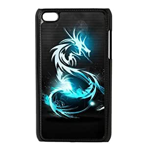 Generic Cell Phone Case For Ipod Touch 4 case Classic Vintage Chinese Dragon Art Design black white Mobile Phone case Hard Plastic Snap on Slim Fit Protective Shell DIY Personalized Pattern Skin