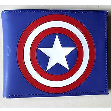 Comics DC Marvel Mini Cartera Capitán América para Hombre Cartera de Lujo Animación Cartoon Super Hero Tarjetero Bolsas de PVC Regalo: Amazon.es: Hogar