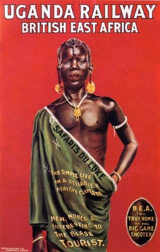 Uganda Railway British East Africa Railway Train Company Vintage Poster Reprint 18x24