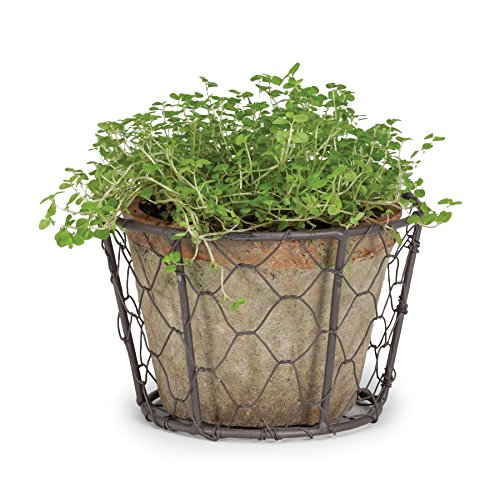 wire basket with pots - 7