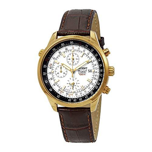 Orient Dyno Alarm Chronograph White Dial Mens Watch FTD09005W