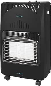 Cecotec Estufa Gas Ready Warm 4000 Slim Fold. Estufa Plegable, Cerámica, 3 Modos, Bombonas de 10 Kg, Triple Sistema de Seguridad, 4 Ruedas multidireccionales, 4200 W