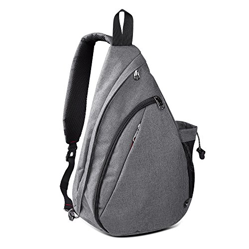 OutdoorMaster Sling Bag - Small Crossbody Backpack for Men & Women (Gray)