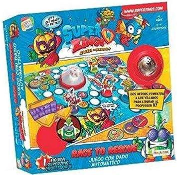 Cefa Toys Juego Superzings Race To Rescue ¡Heroes contra Villanos para Rescartar Al Profesor K!: Amazon.es: Juguetes y juegos