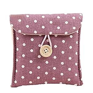 Women's Portable Polka Dot Storage Pouch Sanitary Napkin Holder Organizer Bag