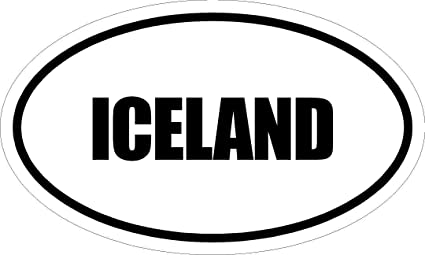 Amazon Com 6 Printed Euro Style Oval Iceland Magnet For Auto Car