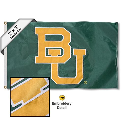 College Flags and Banners Co. Baylor Bears 2x3 Foot Embroidered ()