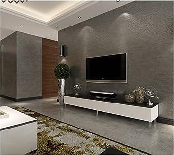 Yosot Einfache Und Schlichte Tapete Wohnzimmer Schlafzimmer Reine Tapete  Vliestapeten Tapete Dunkle Grau