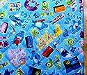 <Qキャラクター・キルティング生地>モンスターズインク (ブルー)#10・ディズニー (2018-2019)(キルティング キルト キャラクター キルティング生地 布 入園 入学 ピロル)クラフトシリーズの商品画像