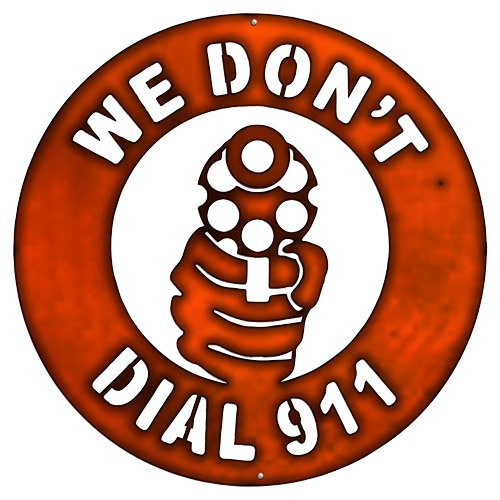 sign we dont dial 911 - 7