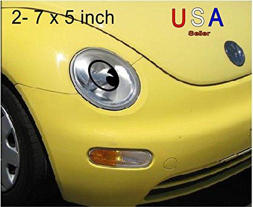 Any Car Headlight Eyeballs Angel Eyes Decal Sticker Great with Eyelashes Face Moon