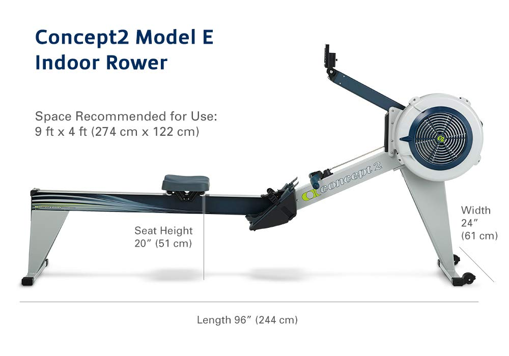 Concept2 Model E with PM5 Performance Monitor Indoor Rower Rowing Machine Gray by Concept2 (Image #4)