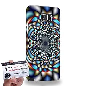 Case88 [Samsung Galaxy Note 5] 3D impresa Carcasa/Funda dura para & Tarjeta de garantía - Art Fashion Visual Art Effect 35