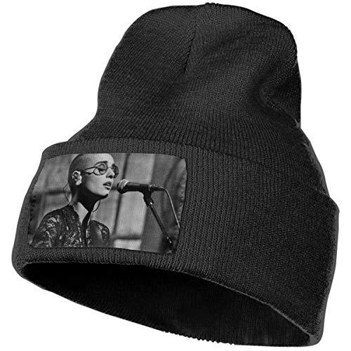 GNonBcalvAes Mens Women Sinead O'Connor Logo Beanie Fashion Unisex Embroidery Beanies Skullies Knitted Hats Skull Caps Black