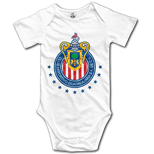 Club Deportivo Chivas USA White Cartoon Short Sleeves Variety Baby Onesies Body Suits For Babies Size 12 Months Chivas Usa Soccer Jersey