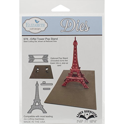 Elizabeth Craft Designs Steel Cutting Die, Eiffel Tower Pop (Eiffel Tower Crafts)