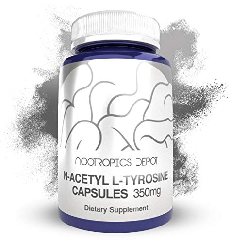 N-Acetyl L-Tyrosine Capsules | 350mg | 120 Count | NALT | Amino Acid Supplement | Natural Nootropic Supplement | Supports Memory, Learning and Focus | Supports Healthy Stress Levels