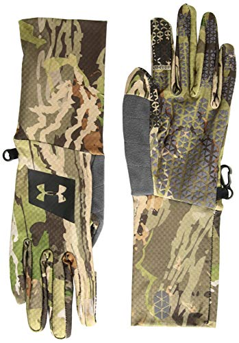 Under Armour Men's Hunt Liner Gloves, UA Forest Camo (940)/Black, Large (Motorcycle Armour Under Gloves)