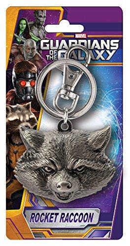 rocket raccoon head pewter lapel