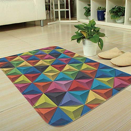 (TecBillion Non-Slip Mat,Geometric,for Bathroom Kitchen Bedroom,35.43