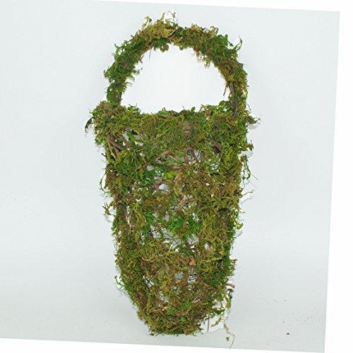 Imaly Decor Moss Rattan Half Hive Hanging Wall Basket, 13