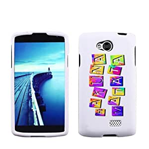 Fincibo (TM) LG Tribute LS660 F60 MS395 Transpyre VS810PP Protector Cover Case Snap On Hard Plastic - Colorful Hakuna Matata, Front And Back