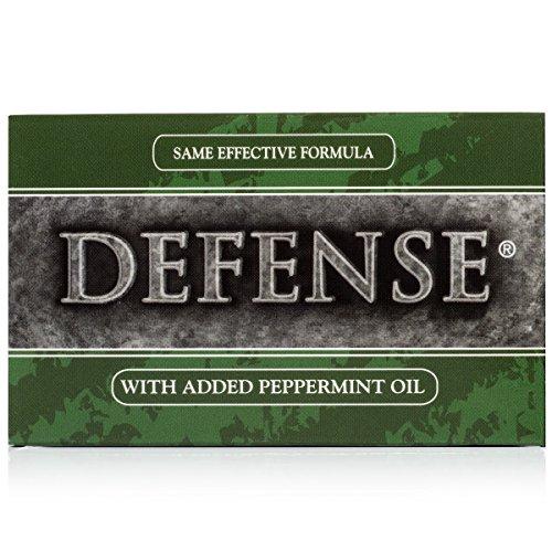 Defense Soap, Peppermint, Ounce - 100 Percent Natural Tea Oil Eucalyptus Oil