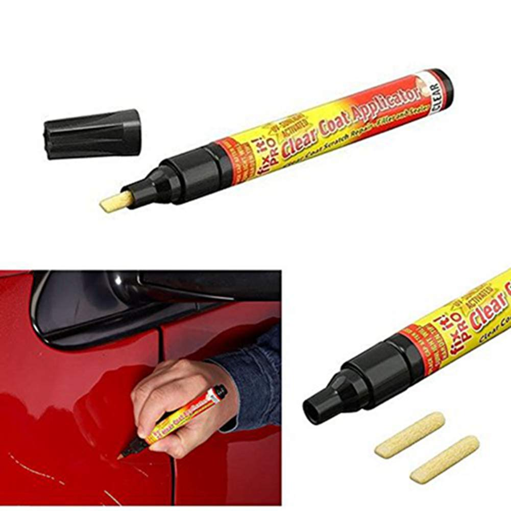 Egurs Fix It Pro Clear Car Scratch Repair Remover Pen Clear Coat Applicator for All Cars
