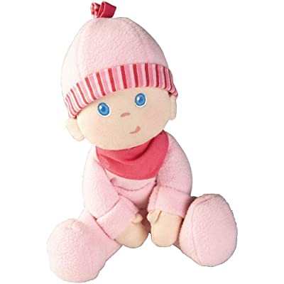 """HABA Snug-up Dolly Luisa 8"""" My First Baby Doll - Machine Washable and Infant Safe for Birth and Up: Toys & Games"""