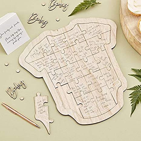 Write-On Puzzle for Up To 18 Players - Perfect baby Shower Game and Gift Idea