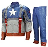 LJS Classic Men Celebrity Cosplay Leather Costume