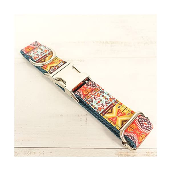 Legendog Print Dog Collar Fashionable Alloy Buckle Dog Collar Adjustable Pet Collar for Dog Cat Size M Click on image for further info. 7