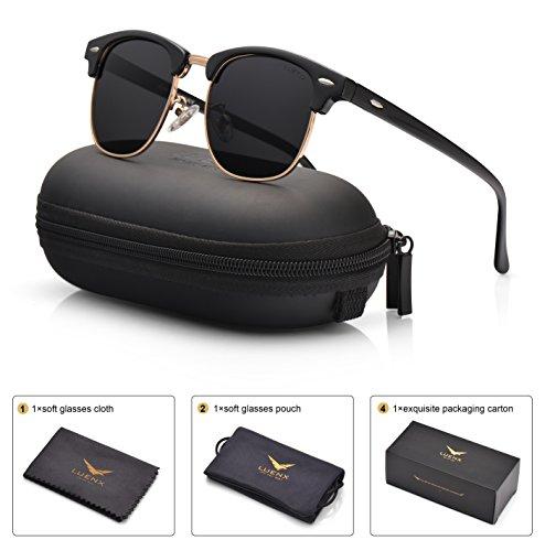 Glossy Black Polarized Sunglasses - 1