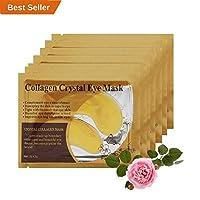 [20 Pairs] Under Eye Mask Premium Gold Collagen Eye Patch Anti Aging Moisturizer for Puffy Eyes Dark Circles Wrinkles Eye Bag Removal Skin Care