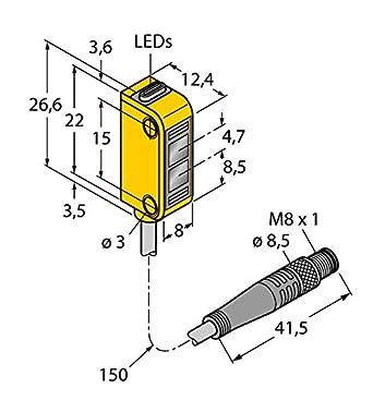 3072111 de q12ab6ff30q, Opto sensor Reflexion Lic httaster miniatura Sensor: Amazon.es: Industria, empresas y ciencia