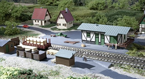 Auhagen 14451 Freight Shed with Loading Dock Modelling Kit