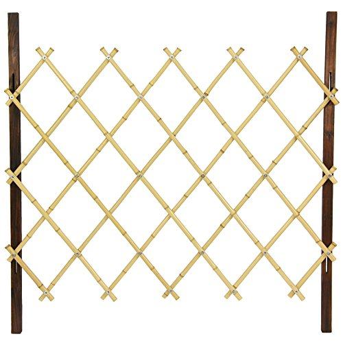 Oriental Furniture 3 ft. Tall Diamond Bamboo Fence - Natural