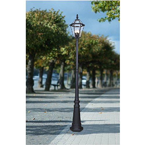 Luxury Specialty Textured Black Post Light 88.58-in H