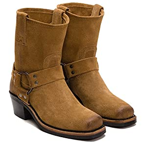 FRYE Women's Harness 8R Tan Oiled Suede Boot 7 B (M)