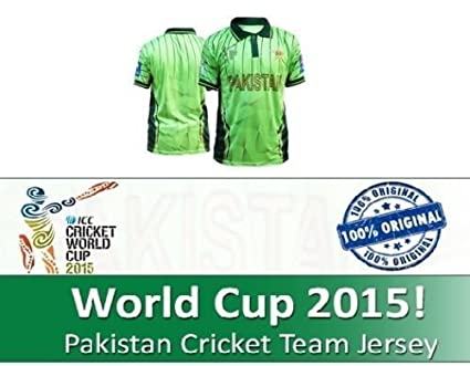 db60b13bb18 ICC World Cup 2015 Ca Pakistan Cricket Team Official Jersey Shirt (Medium)