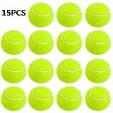 Smartlife15 Practice Tennis Balls, Pressureless Training Exercise Tennis Balls, Soft Rubber Tennis Balls for Children Beginners Pet, Pack of 15 (soft) (soft)