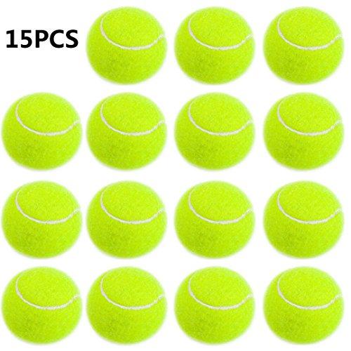 Smartlife15 Practice Tennis Balls, Standard Training Exercise Tennis Balls, Rubber Balls for Children Beginners Pet, Pack of 15