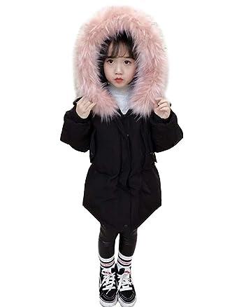 e781b2f842b4 Enfants Filles Longues Parka Doudoune Veste d hiver Manteau De Fausse  Fourrure Manteax Survêtement Vêtements