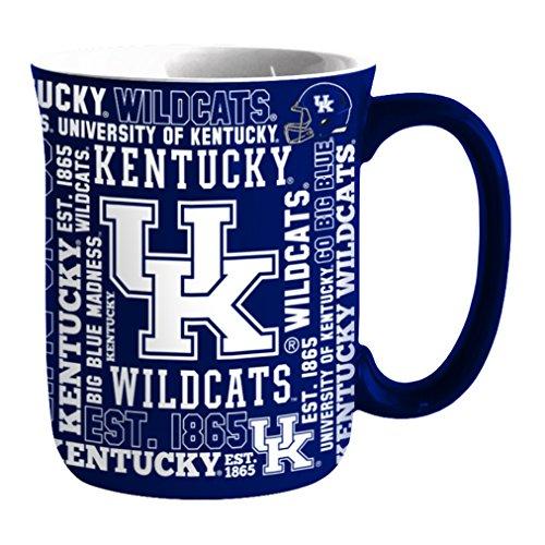 Ncaa Kentucky Wildcats Mugs - NCAA Kentucky Wildcats Sculpted Spirit Mug, 17-ounce