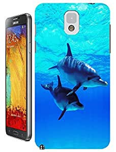 Couple Dolphin Swimming under the Beautiful Sea Cell phone cases for Samsung Galaxy N3