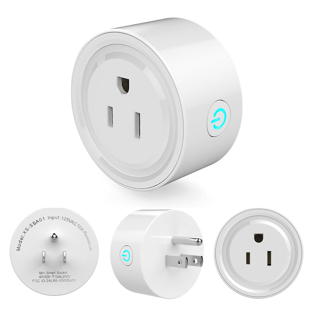 Mmrm Mini Smart Plug Wifi Wireless Switch Remote Control Timer Outlet US Plug (White)