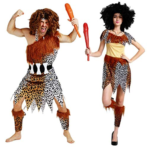 Maxim Party Supplies Men's Caveman Adult Costume Halloween (Men) -
