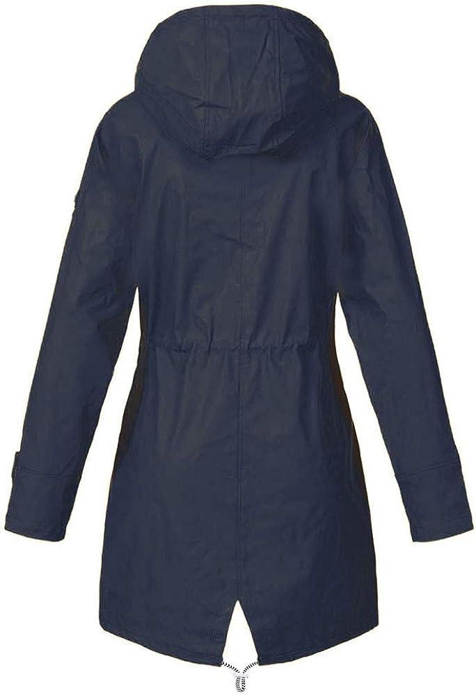 Vestiti Donna Invernali AllAperto Leopardato Donna Beikoard Giacca Impermeabile da Pioggia per Donna Giacca da Pioggia Impermeabile Impermeabile con Cappuccio Antivento