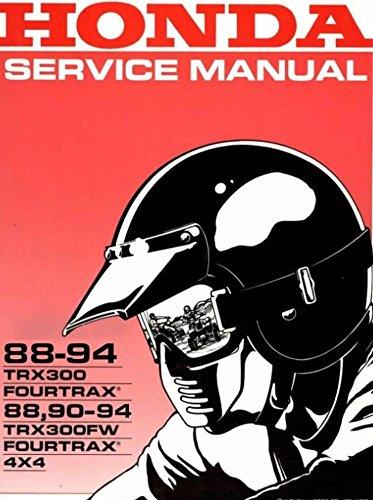 Honda Fourtrax, TRX300, TRX300FW, 2x4, 4x4, 1988-1994 Repair Service Manual CD/DVD/PDF