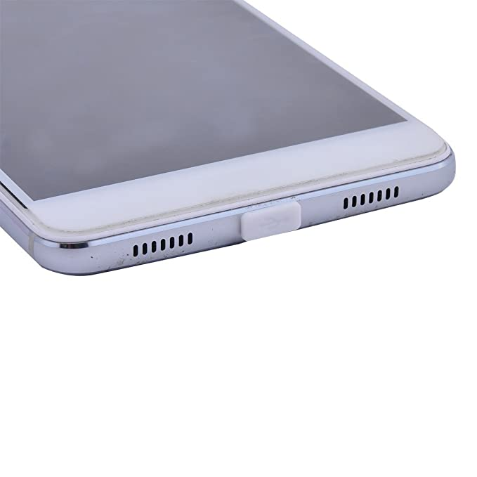 Amazon.com: eDealMax portátil de goma Puerto hembra del polvo Anti Tapa Protector Blanca DE 11 mm de Largo 20pcs Para USB tipo C: Electronics